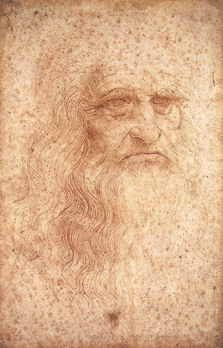 "Portrait of an elderly man, Leonardo da Vinci, c. 1512                                                                                                                      ""The face is the soul of the body.""   - Ludwig Wittgenstein"