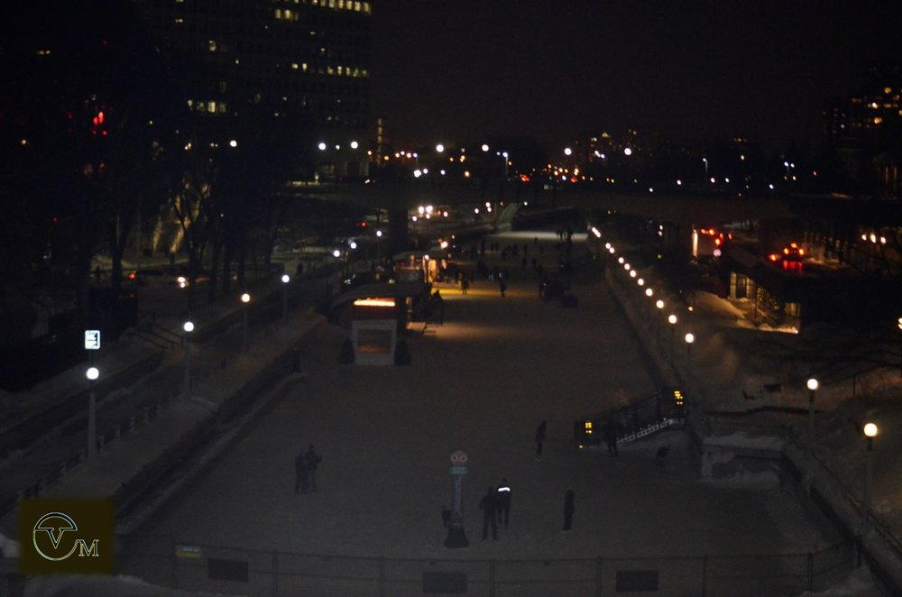 The Rideau Canal freezes each year to become a huge public outdoor skating rink!