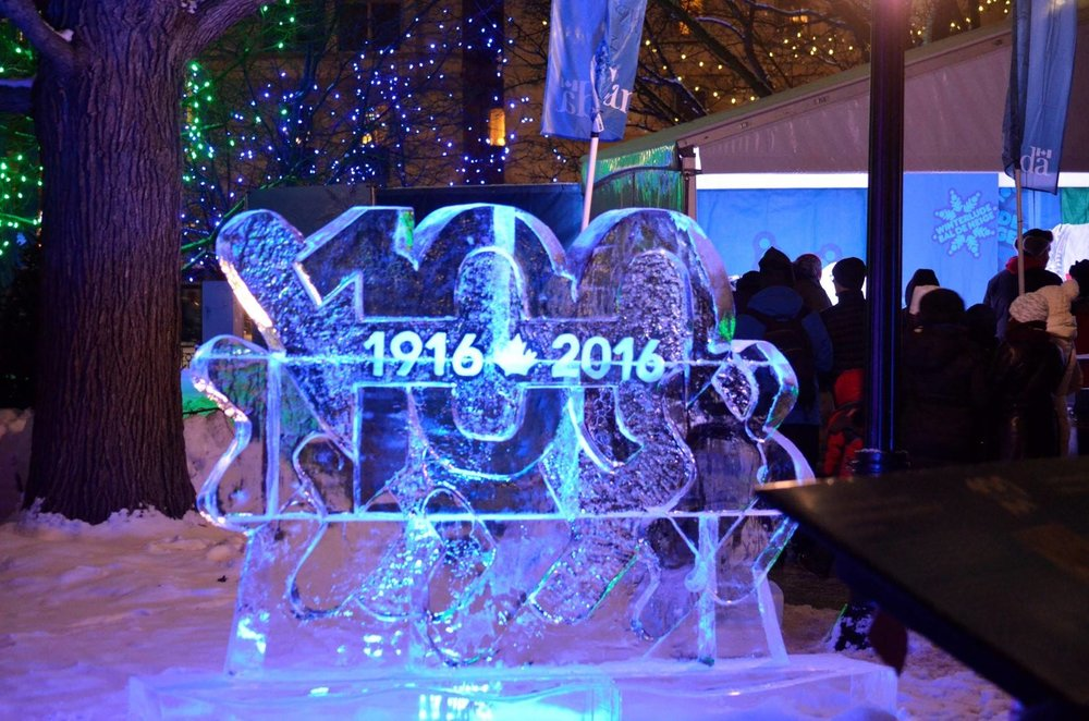 See amazing ice sculptures at this winter festival!