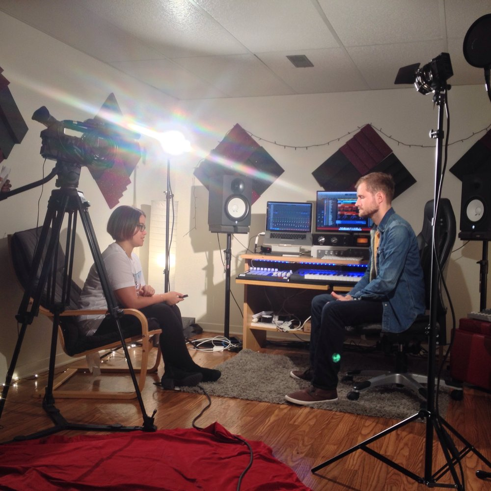 "James Hardiment is interviewed about his song ""Wine"" for a Carleton University News Show in 2016."