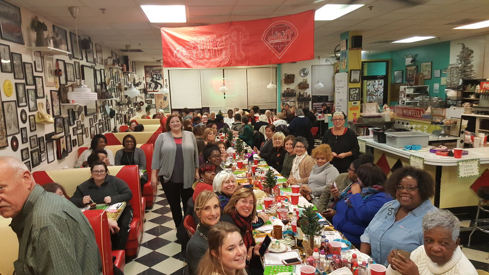 Our first annual Holiday Bingo Fundraiser at Jem Restaurant waa a huge sold out success! Thank you to all the Norristown area and King of Prussia merchants who donated. Two grand prize raffles worth $500 each were donated by Hampton Inn and Hilton Garden in Oaks with limo rides for 8 through Valley Forge Park from Smith Transportation, gift cards to multiple restaurants and skin care baskets from Keihl's at Neiman Marcus! We also filled the money tree for Norristown State Hospital and scholarship fund for MCCC. Join us next year!