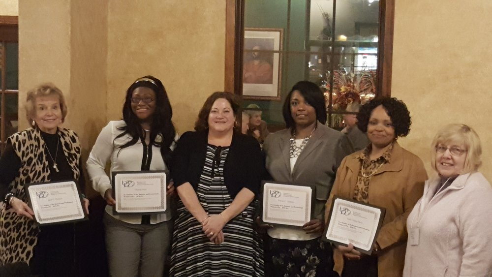 New Year, New Members was on the agenda at the most recent meeting of Central Montgomery County Business and Professional Women. From left, Janet DiCenzo, Glenda Neal, President Becky Shoulberg, Farrah Gaskins, Gail Young Davis and Treasurer Noreen Morello. The club has a diverse membership with women in many fields including STEM industries. For 90 years, this BPW chapter has been empowering women to grow personally, professionally and politically.
