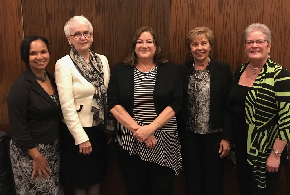 - National Business Women's Week was celebrated by Central Montgomery County Business and Professional Women at their October meeting. Virginia Frantz, President and CEO of Montgomery County Foundation and a CMC BPW member, (second from left) received the club's Woman of the Year award.