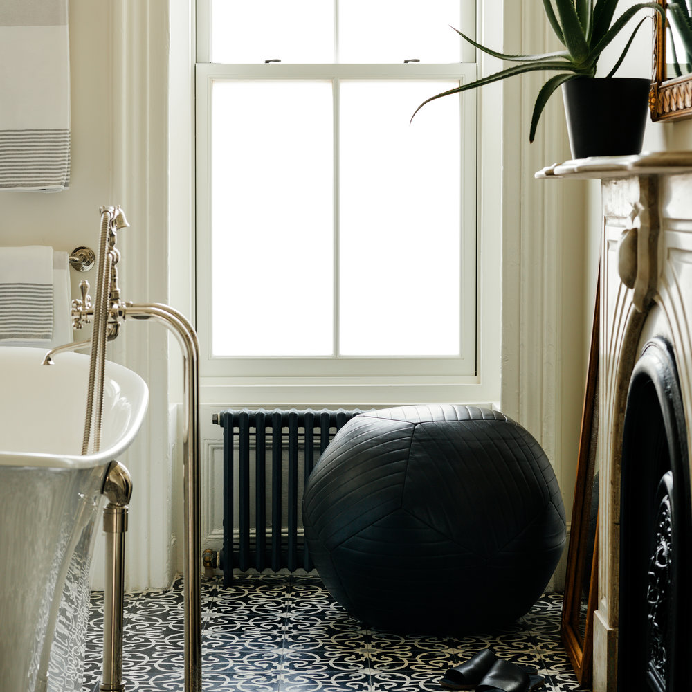 Brooklyn Brownstone Washroom New York Bathroom Style Furniture Ball Seating Pouf Leather Claw Foot Tub Marble Brownstoner Remodelista Elizabeth Roberts Interior Styling Decor Stylist Google Cristin Frodella Chelsea Manhattan NYC Conor Sheridan Park Slope Nicole Watts Los Angeles Photography Josephine Rozman Jo Homepolish Ottoman Contemporary Modern architect townhouse loft traditional residential landmark building aesthetic elements Cornell Princeton Berkley Columbia John Bassett daniel bon trop parsons Ricky delpilar Tennessee catskill derek Gruen dawn helms Brighton England jessica Keenan Oregon northwestern Daniela kolodesh Pratt Philadelphia josh leak maggie manner coo coo elliot Meier josh ross North Carolina Knoxville Valeria Reynolds Southern California ana Vazquez Cordoba Argentina Aloe Plant Central Park Guggenheim museum