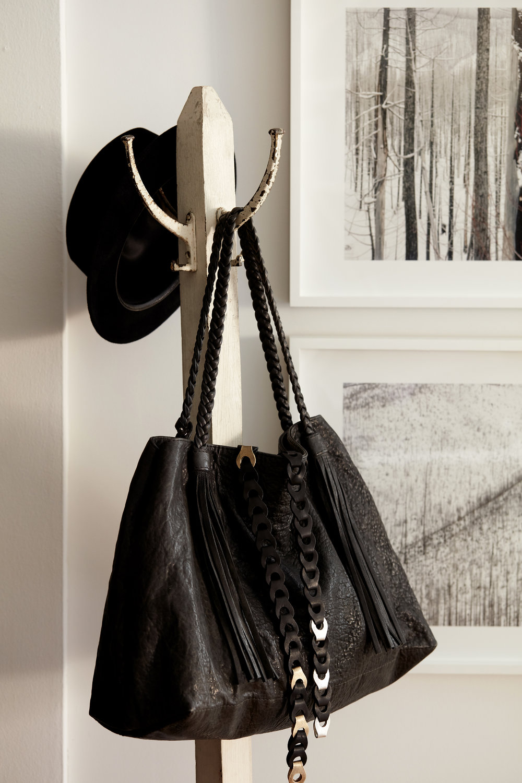 Manhattan Montana fedora metal leather belt lambskin tote bag women bags street style NYC Josephine Rozman jo david nadel