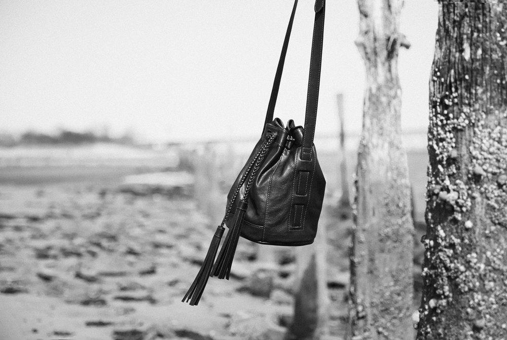 rockaway brooklyn bushwhack bushwick bespoke cross body leather bucket bag handbag women bags street style NYC  lucie kim myorb Zaina Budayr saskia Koerner urban romantic