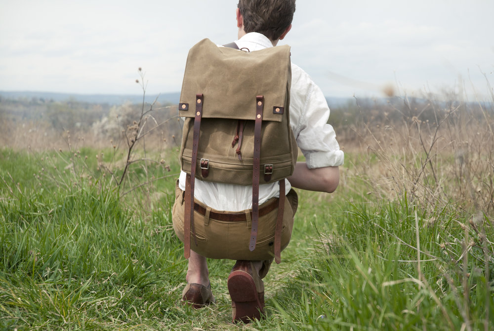 Meanderware: Two-Pocket Backpack  photo credit: Tyler Goldman  model: Damon Carlson