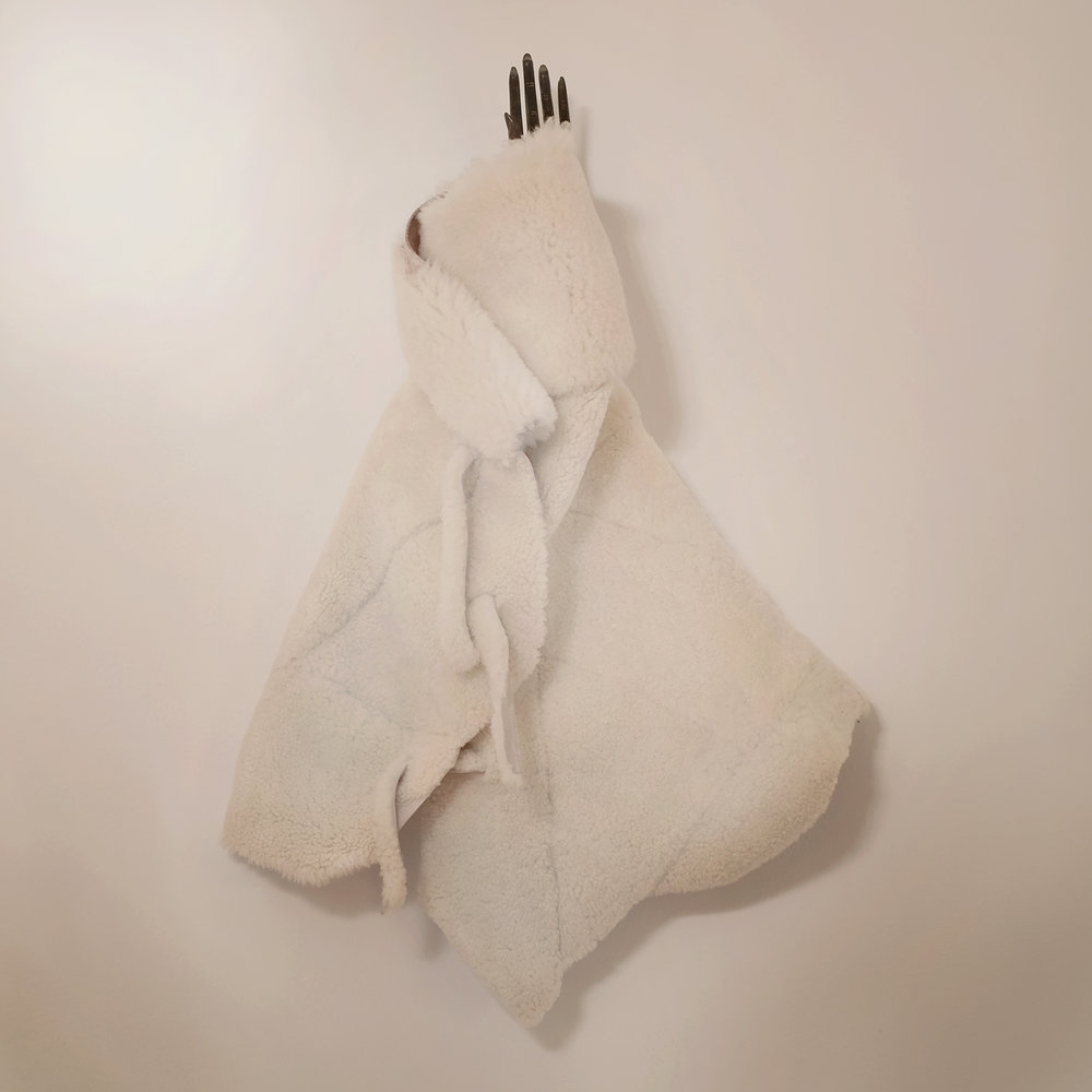 custom bespoke sheepskin shearling leather infant baby poncho