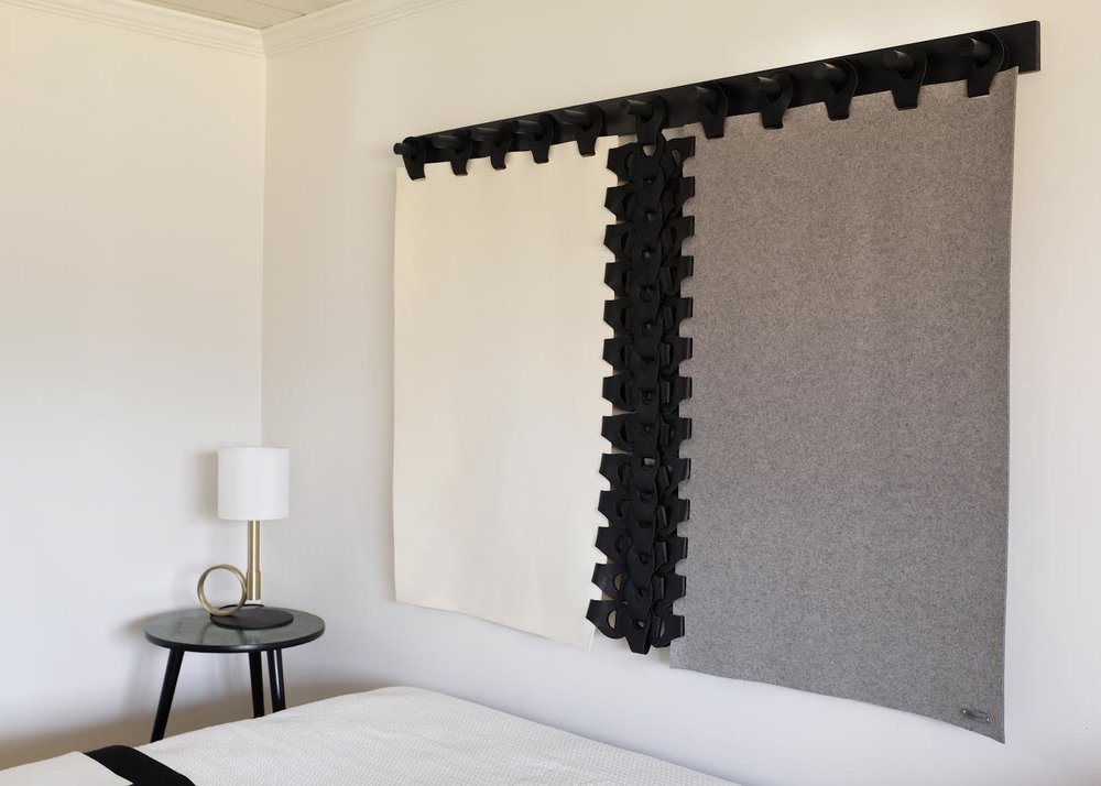 Vertebrae Tapestry  In Shades : Megan Pflug Interior Design - The Woodhouse Lodge