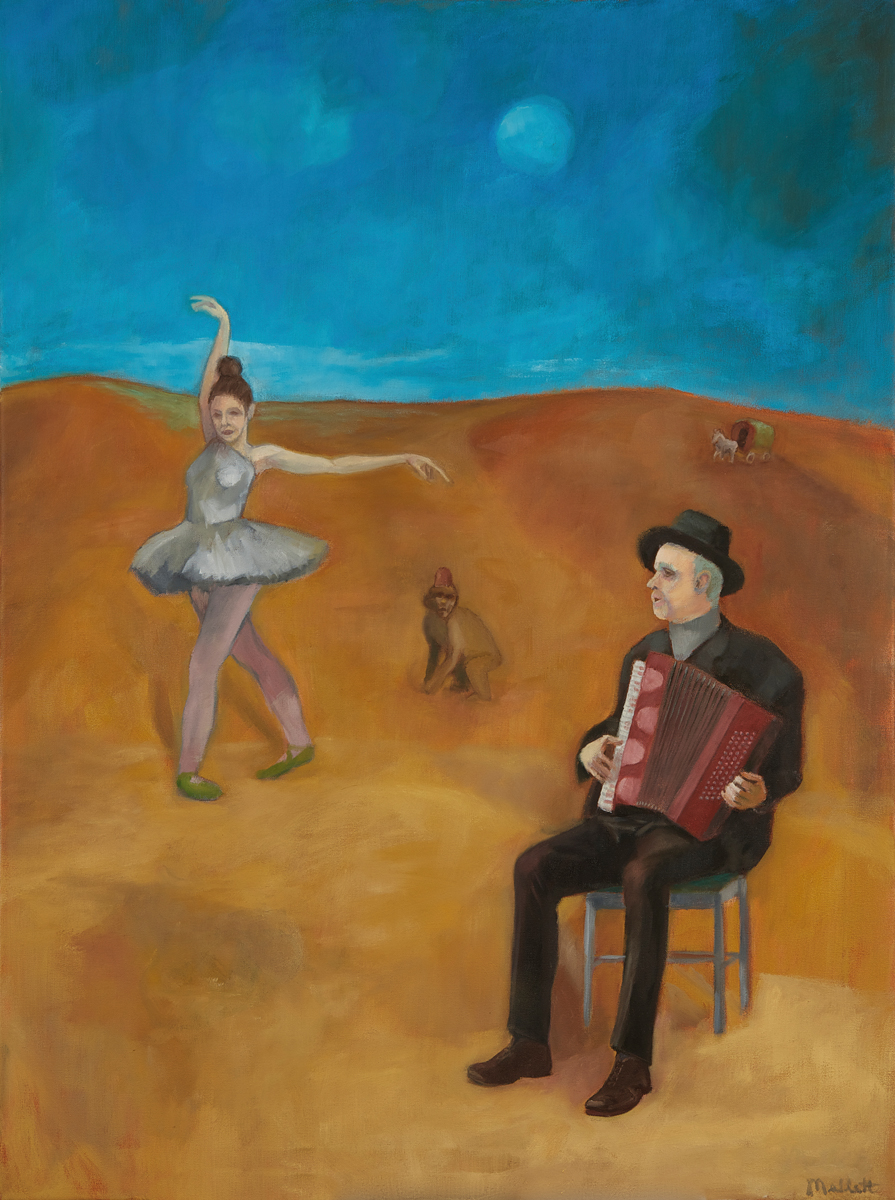 Ballerina with Accordion Player