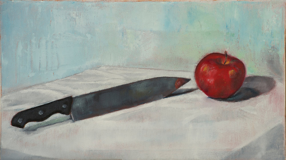 Knife and Apple