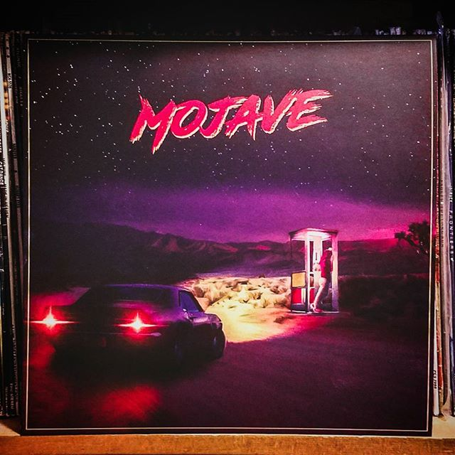 It is always a pleasure to see some of my artworks printed on physical media. This is the LP vinyl release of #mojave by #androidautomatic. #vinylcollection #vinyls #synthwave #syntheavealbum #graphicdesign #graphicdesigner