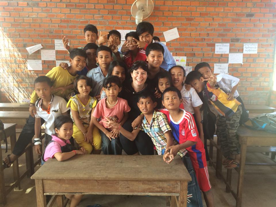 She was even able to visit the school and meet the children she helped!