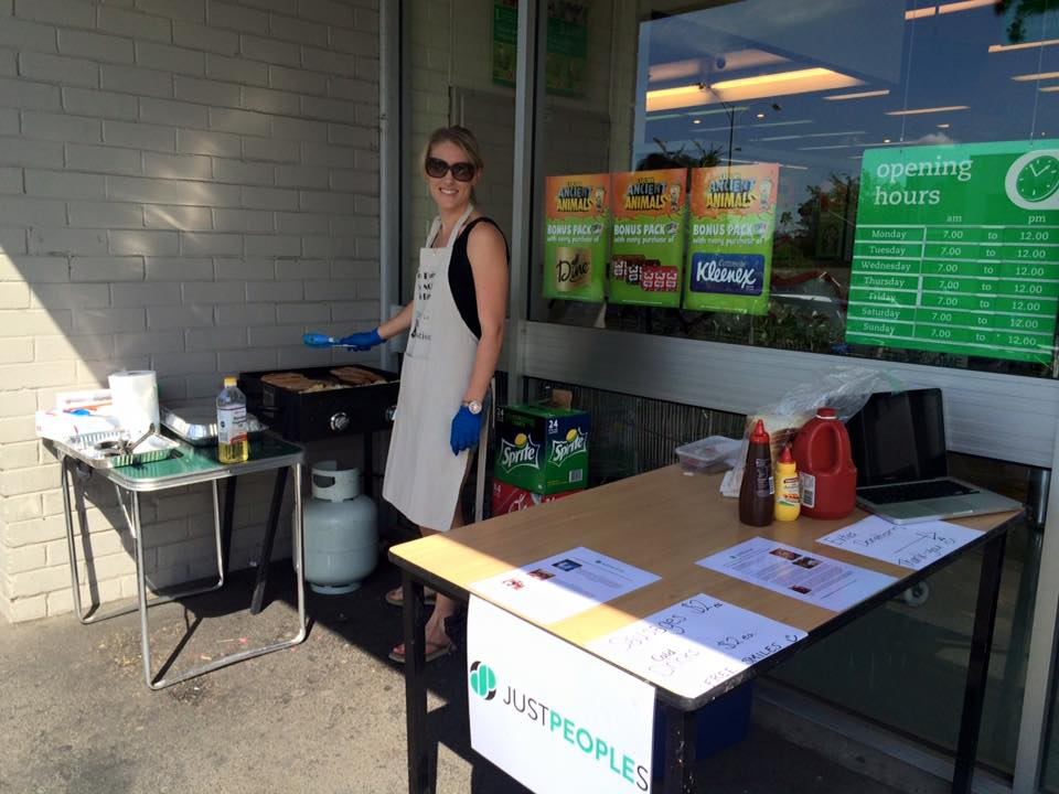 Brie ran a sausage sizzle at her local supermarket