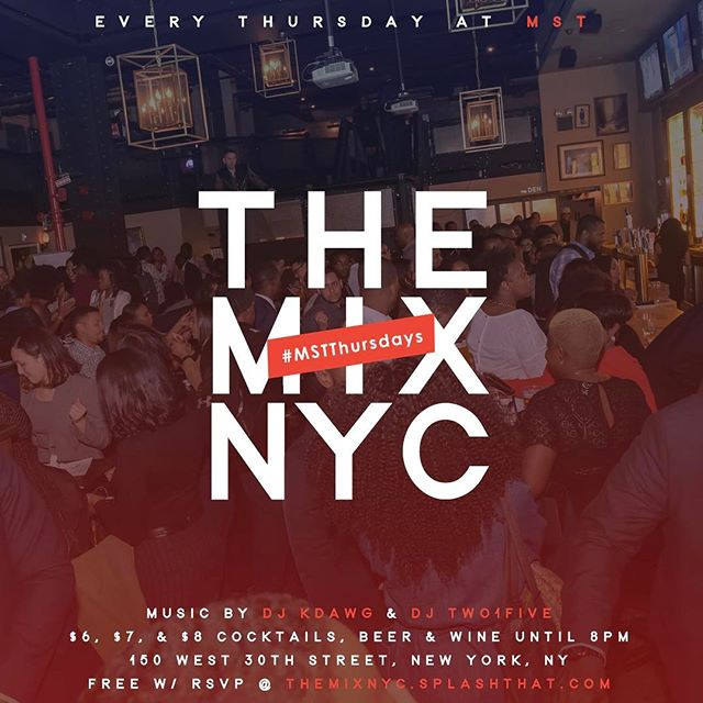 [ #ParadimeNYC ] The count down to club #mist has begun. Every Thursday it's The MIX NYC @ MST .  Come Build, Brand, and Bond with different business owners.  We are bridging the gap. Drink special available. RSVP link in Bio for additional information.