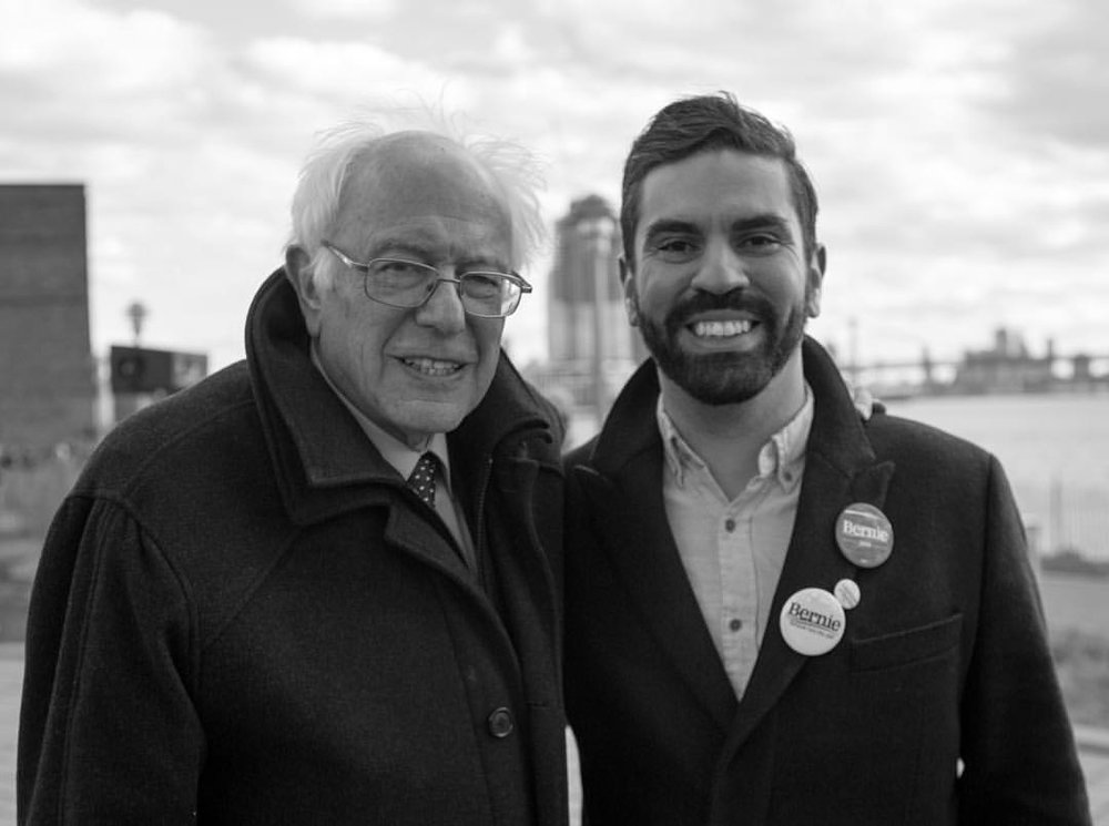 Rafael becomes the first NYC official to endorse Bernie Sanders in Greenpoint, BK 2016- Opening his rally at Transmitter Park