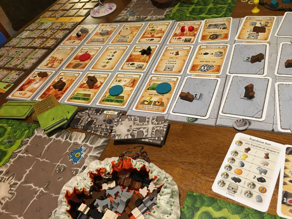 Caverna looms large on the table.