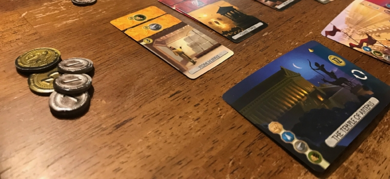 The nice chunky cardboard coins and beautiful artwork help maintain the theme of the game.