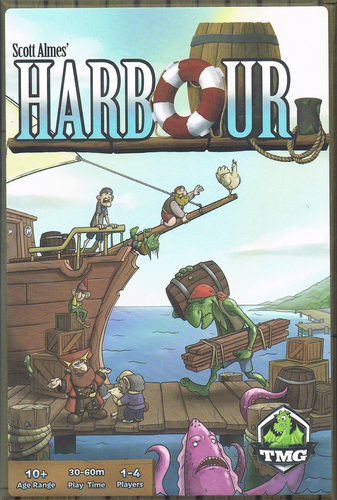 My go to lunchtime economic game. Again, I love the playful twists on classic fantasy themes, and the central mechanic is elegant, smart, and fun. And damnit Jerry, why'd you have to go and ship cows!? https://boardgamegeek.com/boardgame/155969/harbour