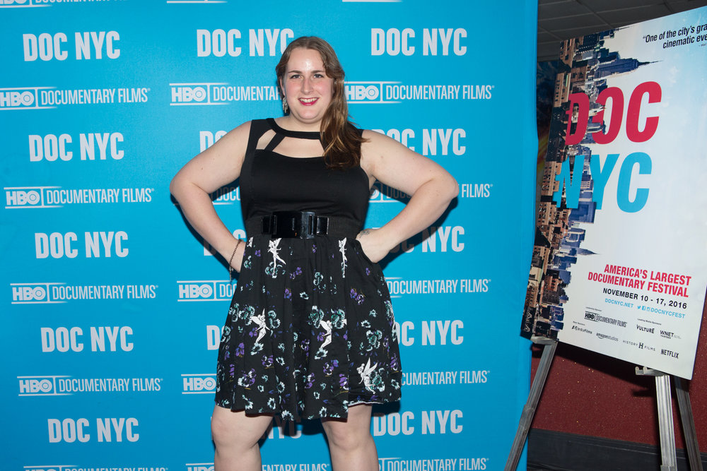 Brooke Guinan at DOC NYC for the world premiere of Woman on Fire.