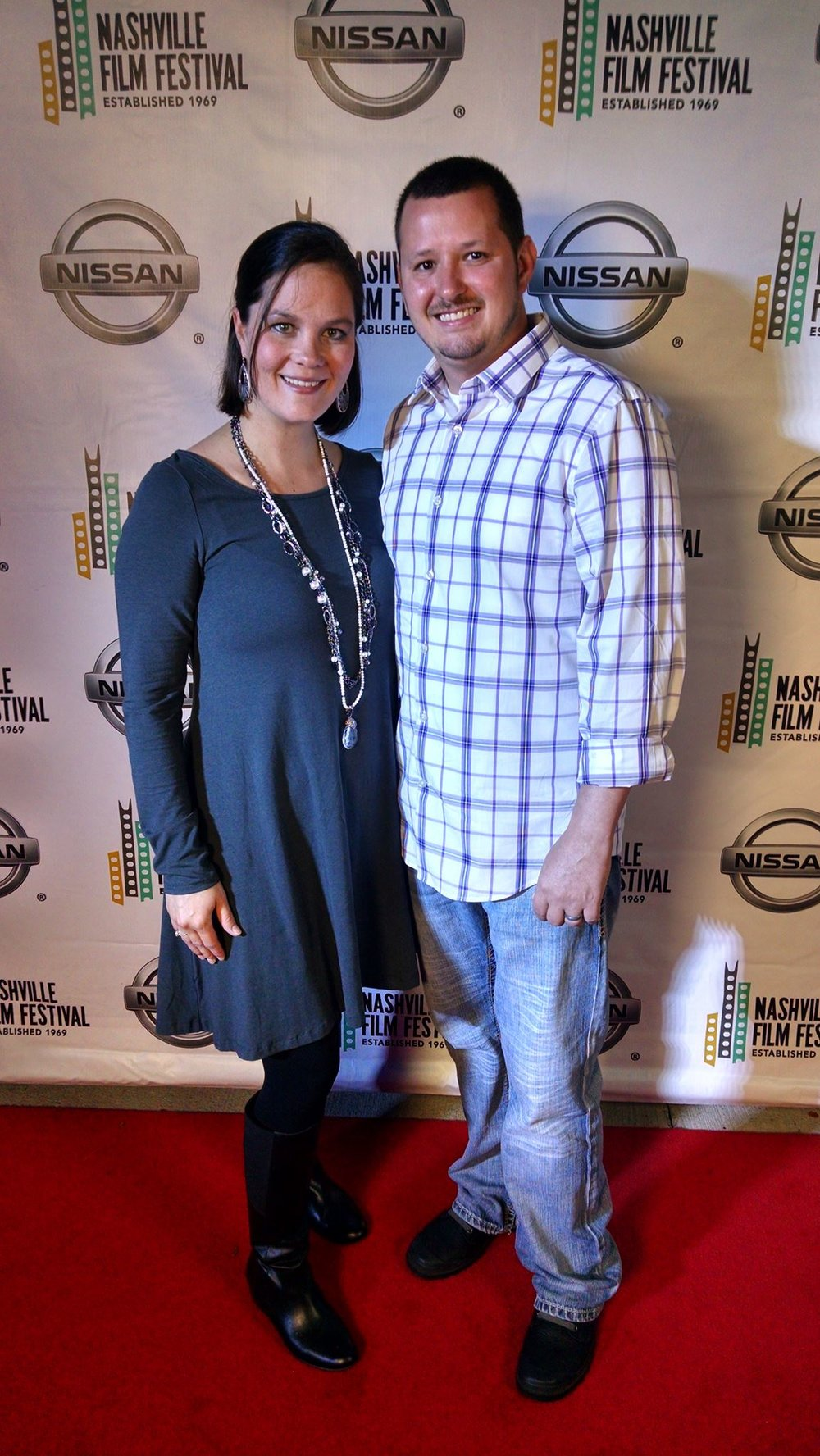 Walking the Red Carpet with my wife at the Nashville Film Festival 2015