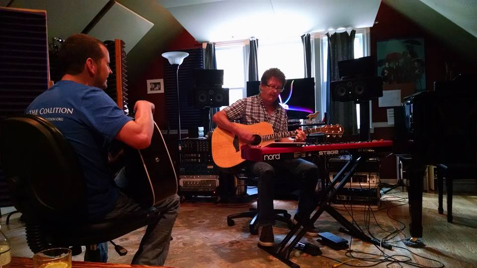 "Working on ""Carolina Rain"" with my producer Doug Kahan"