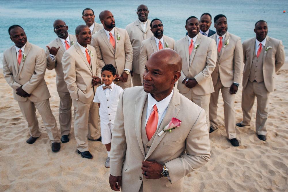 groomsmen in cabo