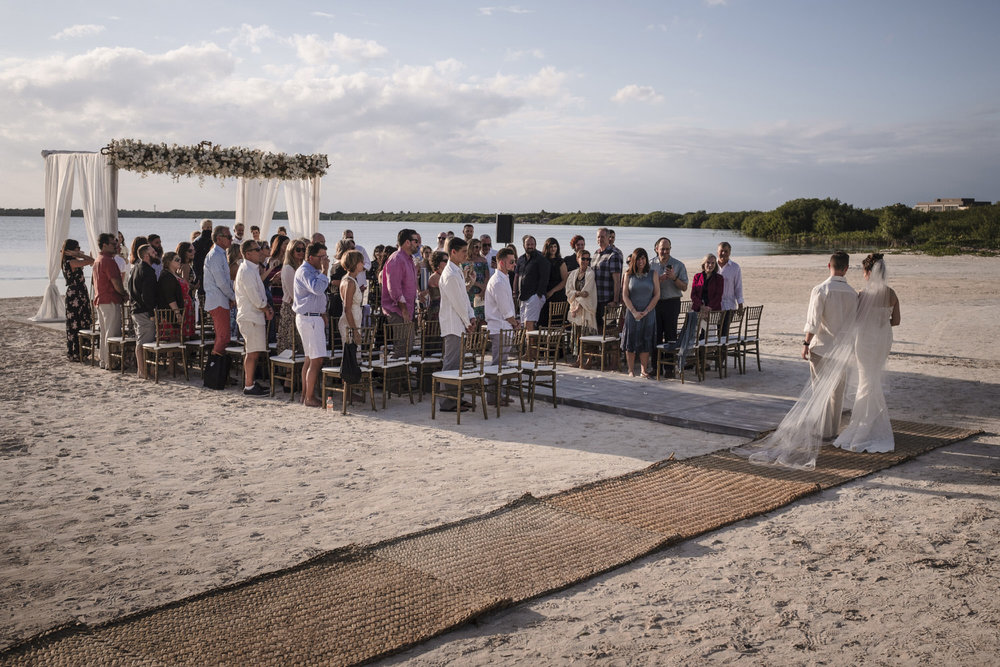 wedding ceremony at nizuc