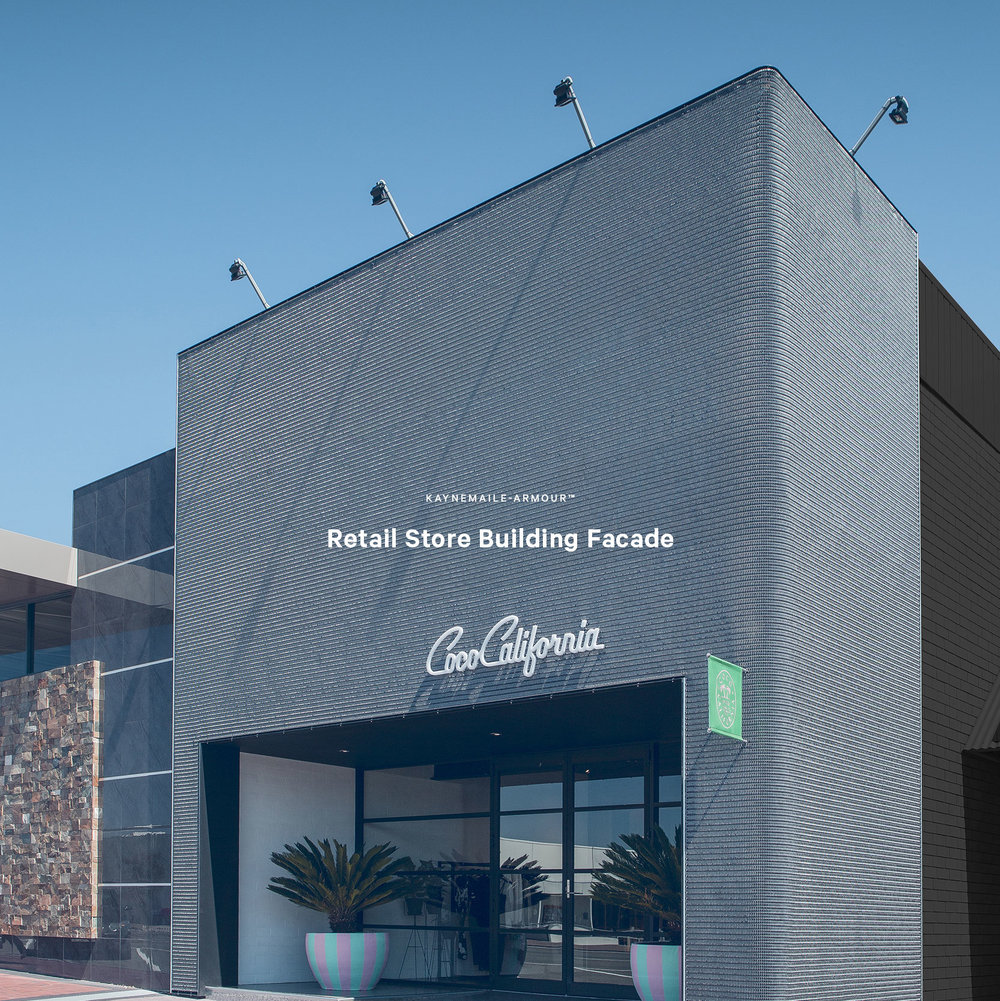 Kaynemaile-Armour Exterior retail facade Coco California Australia