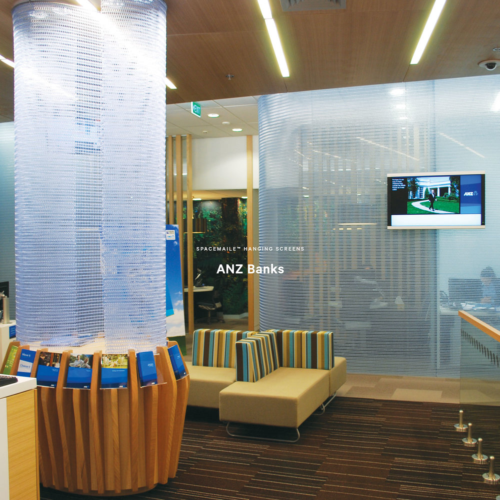 Spacemaile Interior Hanging Screens ANZ Bank New Zealand