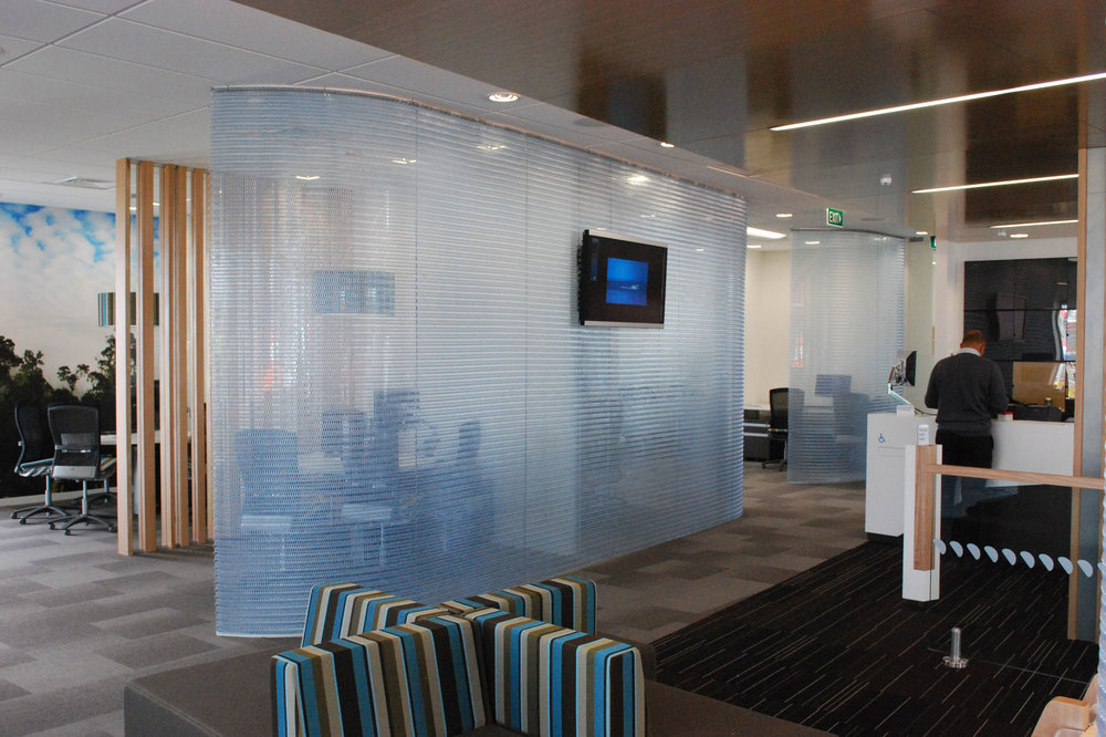 ANZ Bank hanging screens