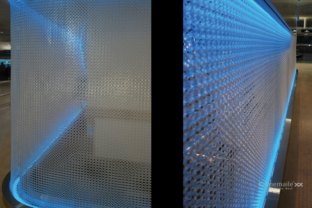 security screen decorative partition mesh weave