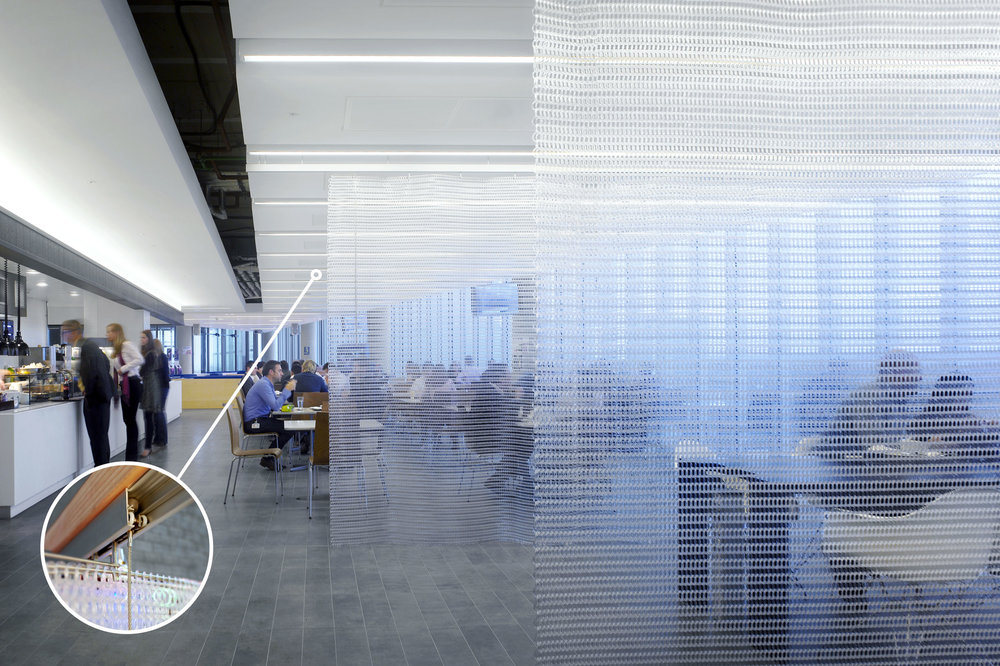 interior architectural screen office divider nokia