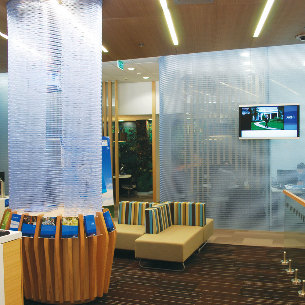 ANZ Bank Spacemaile Hanging Screen