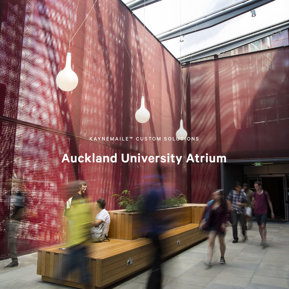 Auckland University Atrium Custom Screen