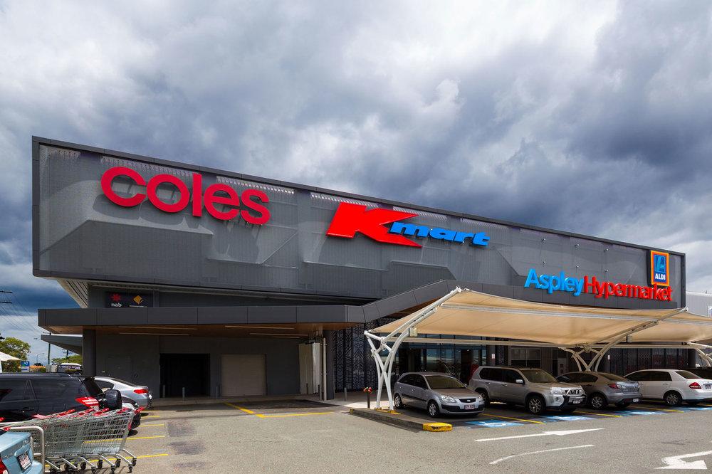 Kaynemaile-Armour facade at Aspley Hypermarket