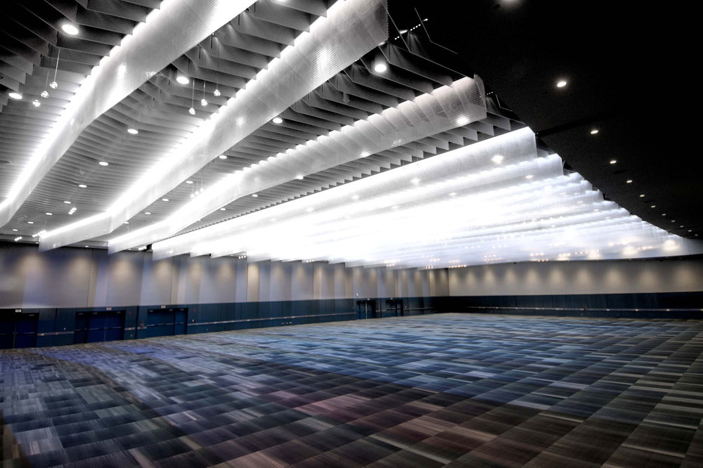 Greater Columbus Convention Center, after feature ceiling installation
