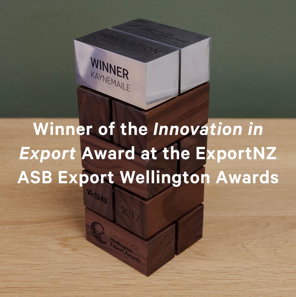 Kaynemaile Winner of ExportNZ Award for Innovation in Export