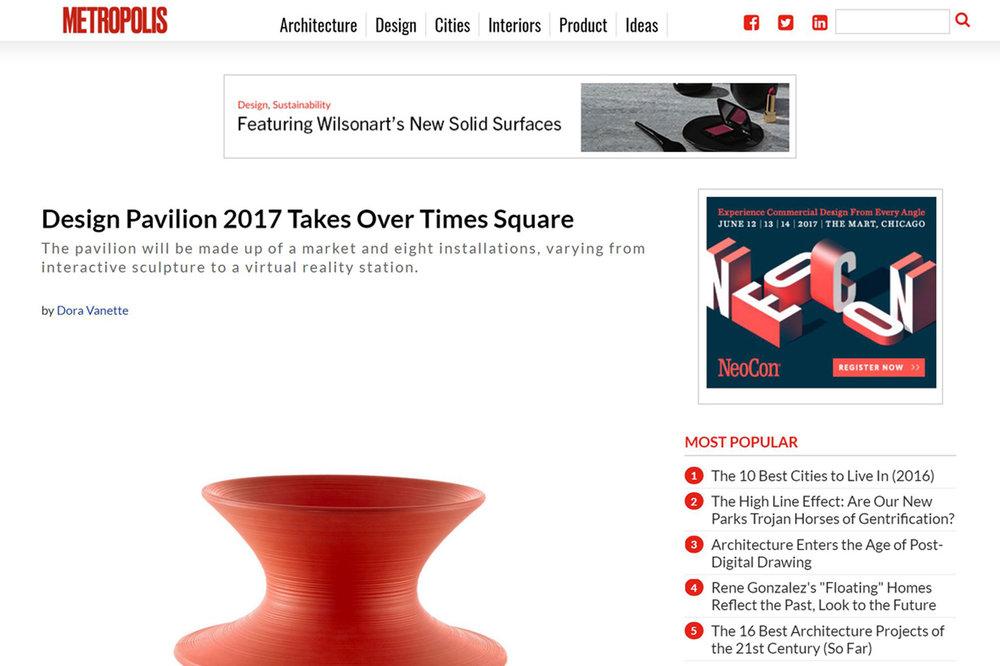 Metropolis: Design Pavilion 2017 Takes Over Times Square