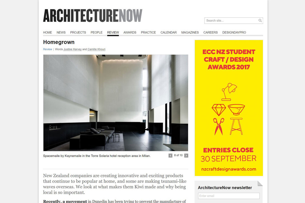 ArchitectureNow Homegrown featuring Kaynemaile