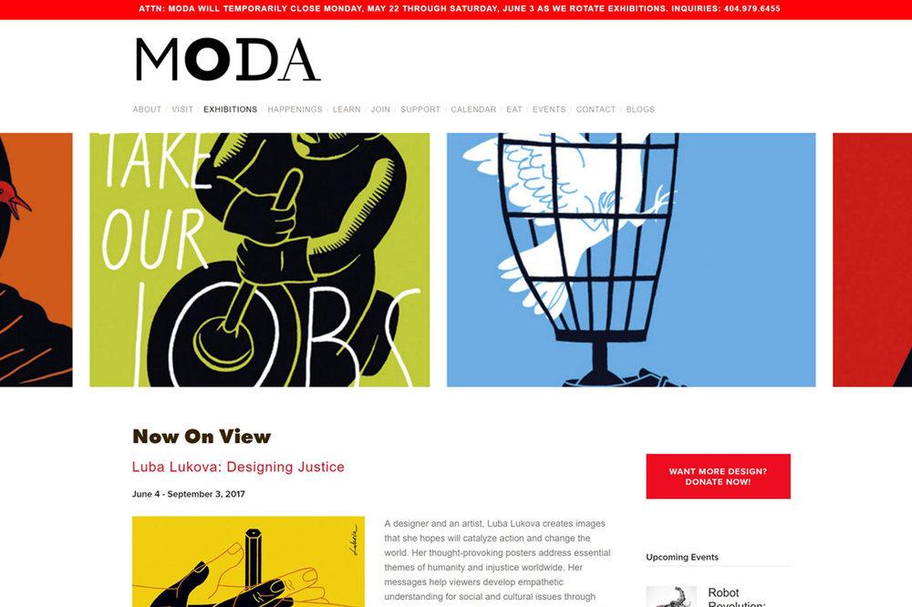 Kaynemaile Sponsorship: Luba Lukova: Designing Justice exhibition at MODA