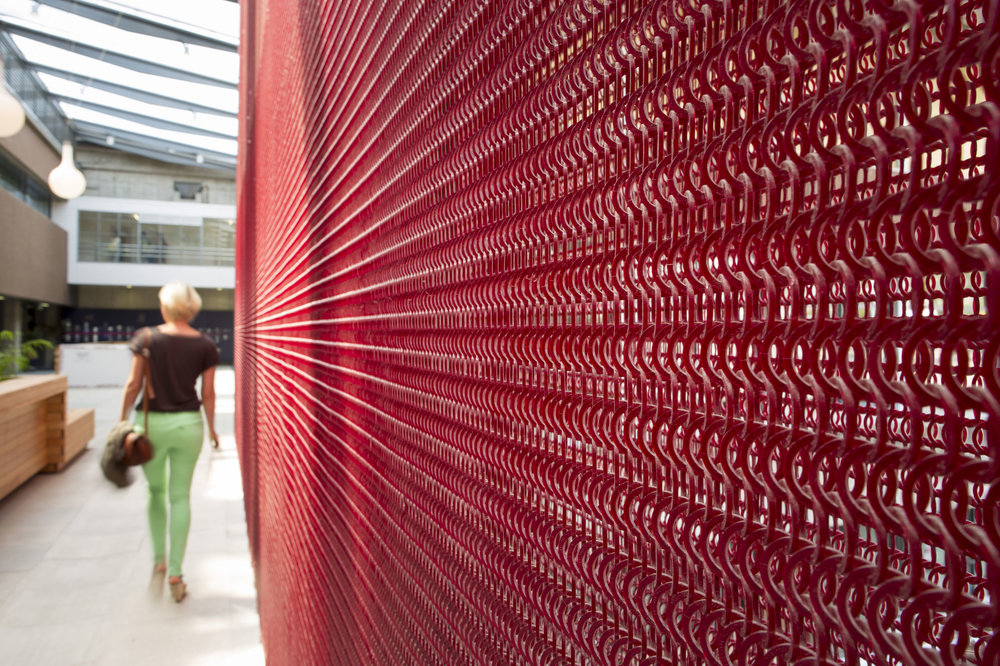 Advance textile Source: Plastic is recycled to make architectural mesh