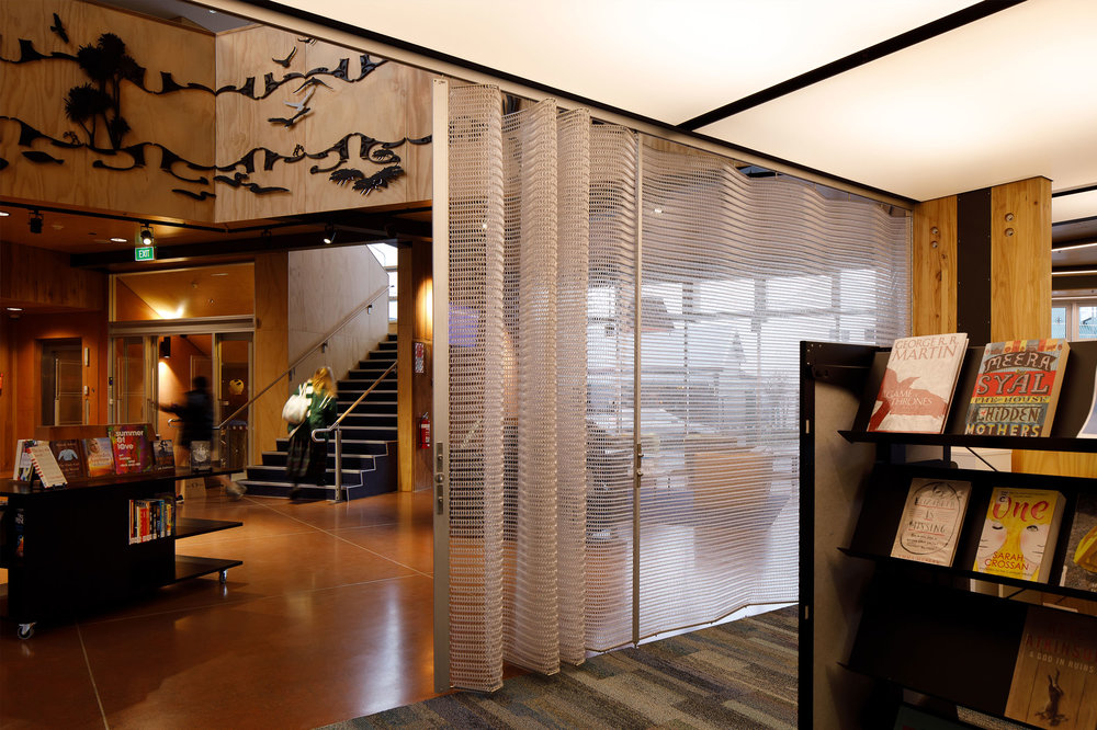 Deterrent Folding Screens   Spacemaile Deterrent Folding Screens combine low level security and great functionality with our operable screen system. Perfect for interior applications such as retail malls, offices, libraries, schools and anywhere else you need a beautiful, lockable screen.