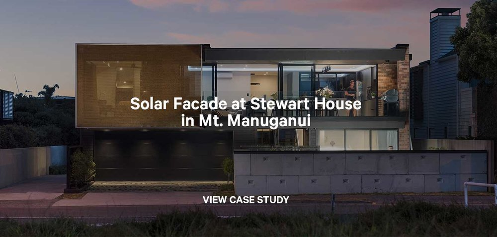 Solar screen and privacy screen for Stewart House