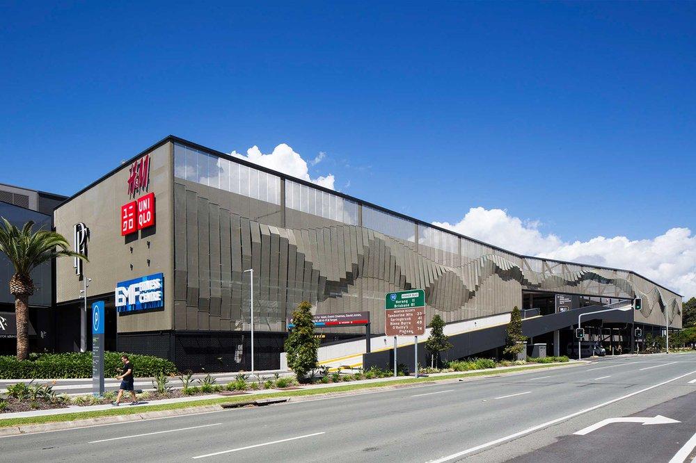 Pacific Fair shopping centre parking garage facade australia