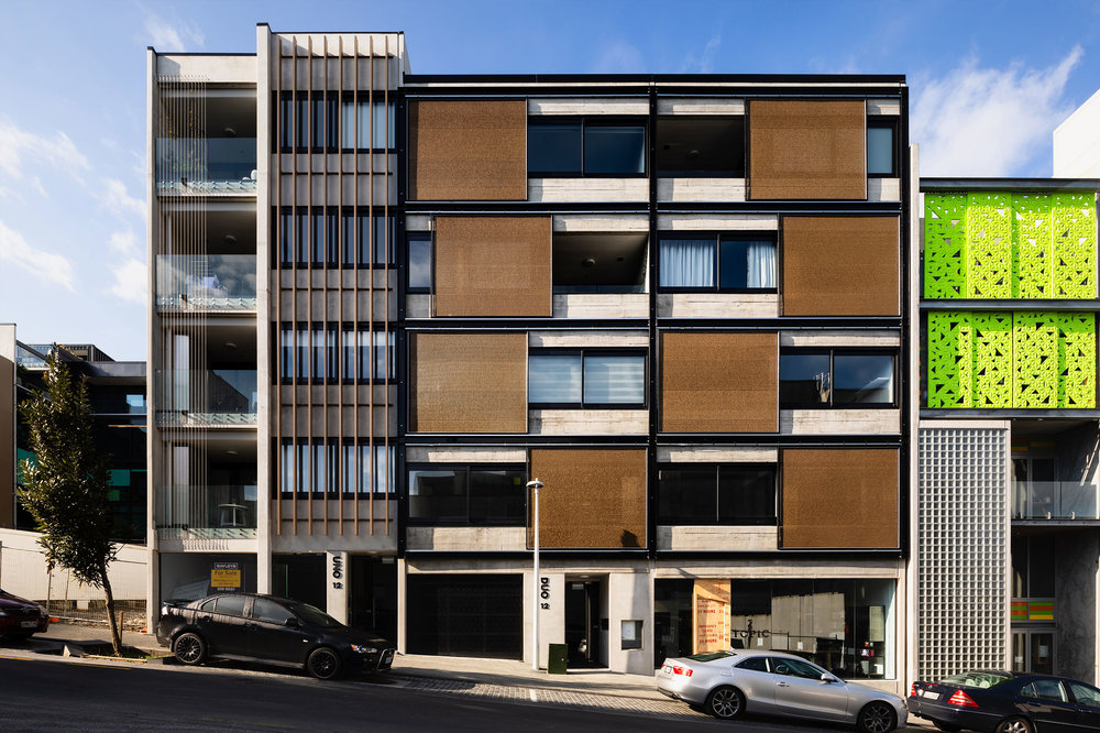 Sliding City Views for Uno Duo Apartments  Auckland, New Zealand    View Project →