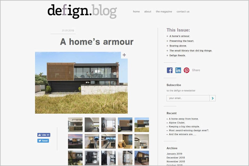 Kaynemaile mesh featured in ADNZ defign.blog A home's armour