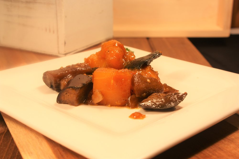 VEGANATION Marinated Eggplant w/ Orange Butternut Squash