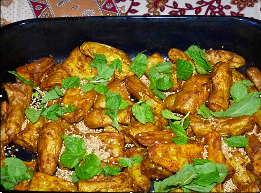 Ayurvedic Recipes_Moroccan Roast potatoes with Tahini Sauce.jpg