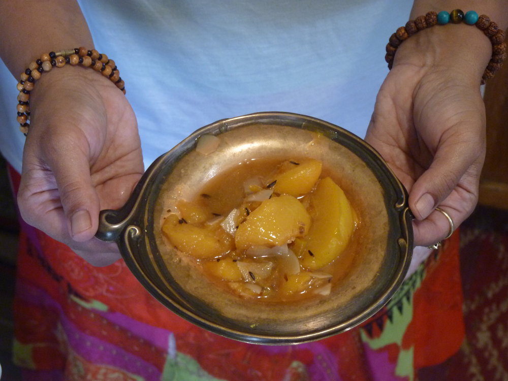 Ayurvedic Recipes-Peach Chutney 2